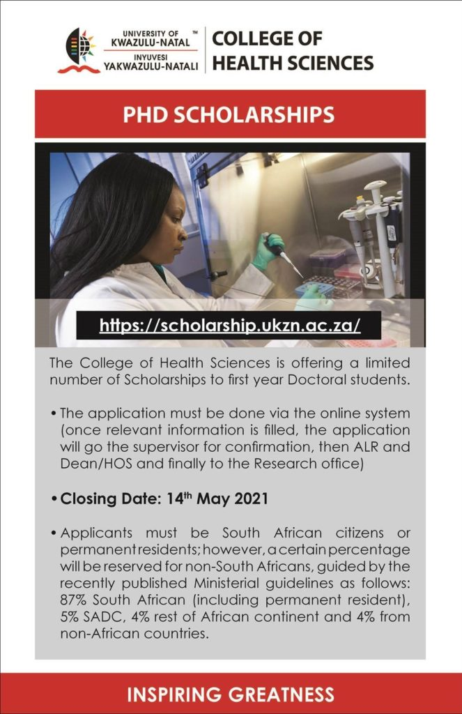 PHD Scholarships for first-year Doctoral students